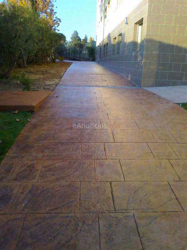 Hormigon impreso guadalajara interesting pavimento for Hormigon impreso getafe