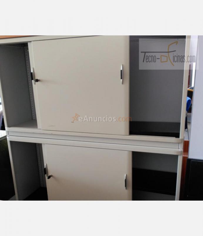 Doble armario metalico puertas correderas 1755540 - Puerta corredera doble ...